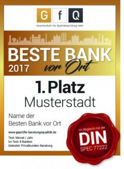 Beste Bank vor Ort 2017