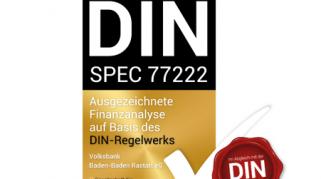 Die Volksbank Baden-Baden Rastatt eG wird für ihre Qualität in der Finanzanalyse im Privatkundengeschäft ausgezeichnet