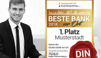 BESTE BANK vor Ort 2018 // Analyse und Ergebnisse nach 1.464 getesteten Instituten