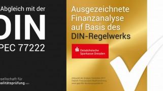 Die Ostsächsische Sparkasse Dresden wird für ihre hohe Qualität in der Baufinanzierungsberatung ausgezeichnet
