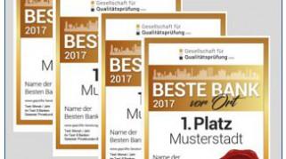 BESTE BANK vor Ort 2017 // Analyse und Ergebnisse nach 2.255 getesteten Instituten
