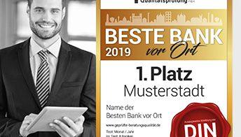 BESTE BANK vor Ort 2019 - Analyse und Ergebnisse nach 1.422 getesteten Instituten