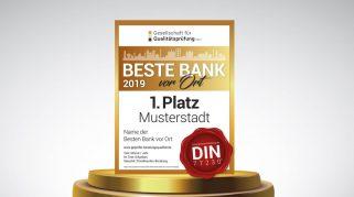 """Bestenliste 2019 (Q3 2019): die """"Besten Banken vor Ort"""""""