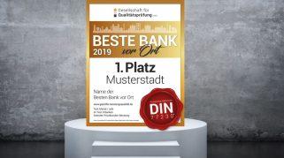 """Bestenliste 2019 (Q4 2019): die """"Besten Banken vor Ort"""""""
