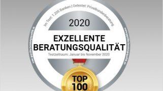 """BESTE BANK vor Ort 2020: Die """"Top 100"""" stehen fest! - Umfangreicher Bankentest kürt die BESTEN BANKEN nach den Vorgaben des Verbraucherschutzes!"""
